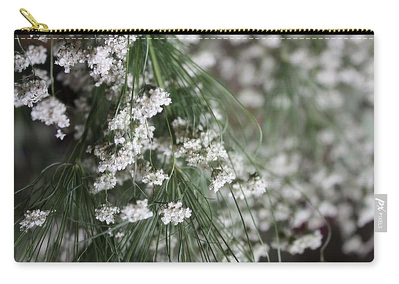 Queen Anne's Lace Carry-all Pouch featuring the photograph Queen Anne's Lace by Vicki Cridland