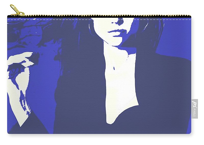 Model Carry-all Pouch featuring the painting Quiet Confidence by Jack Bunds