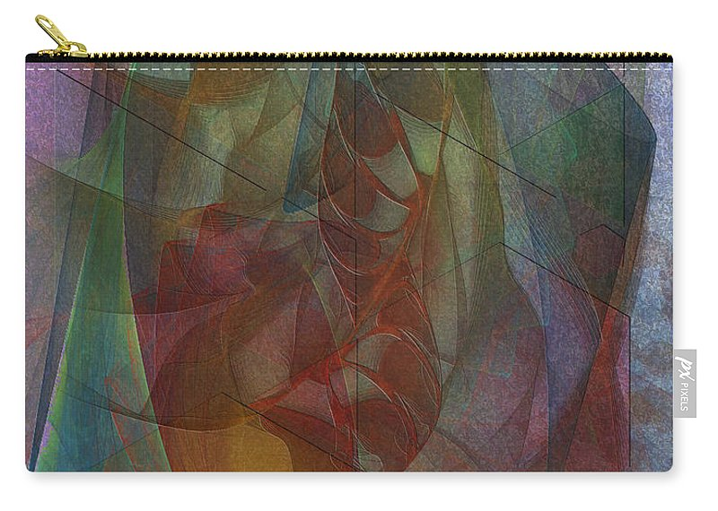 Quiet Insight Carry-all Pouch featuring the digital art Quiet Insight by John Robert Beck
