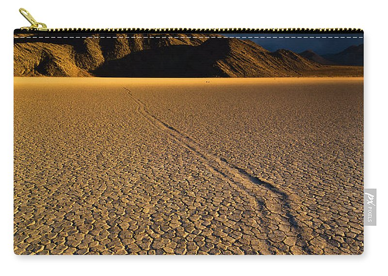 Sliding Rock Carry-all Pouch featuring the photograph Racetrack Playa Sliding Rock, Death Valley, California by Neale And Judith Clark