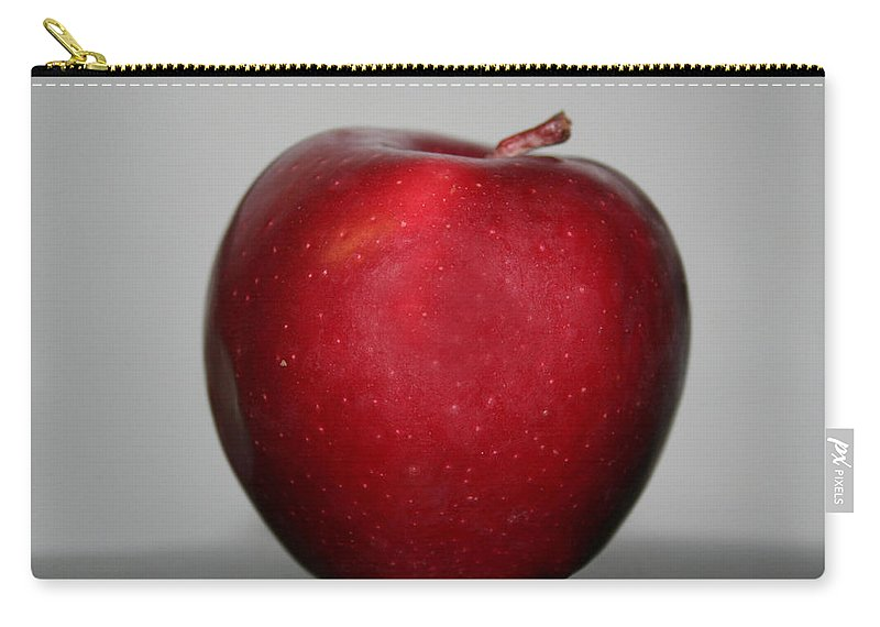 Red Apple Carry-all Pouch featuring the photograph Red Apple by Linda Sannuti