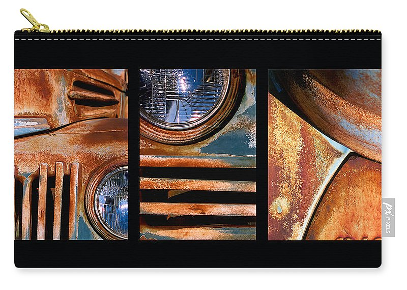 Abstract Carry-all Pouch featuring the photograph Red Head On by Steve Karol