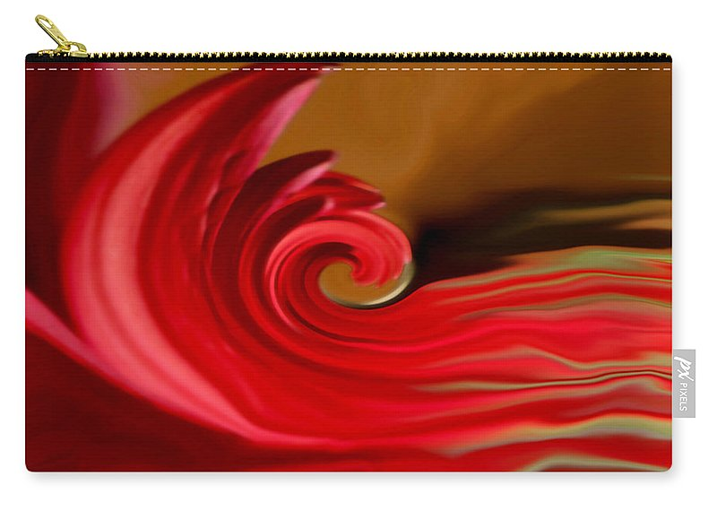 Abstract Art Carry-all Pouch featuring the photograph Red Sea by Linda Sannuti