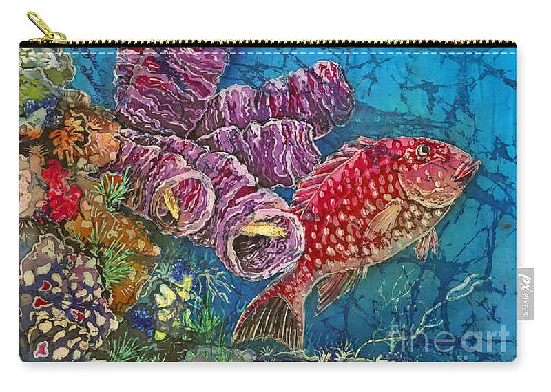 Ocean Carry-all Pouch featuring the painting Red Snapper by Sue Duda