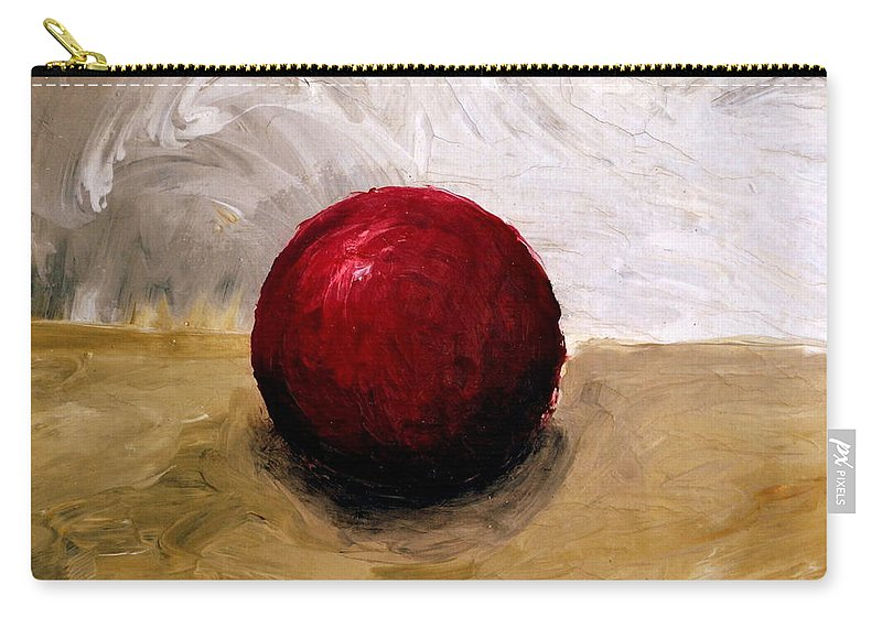 Red Carry-all Pouch featuring the painting Red Sphere by Michelle Calkins