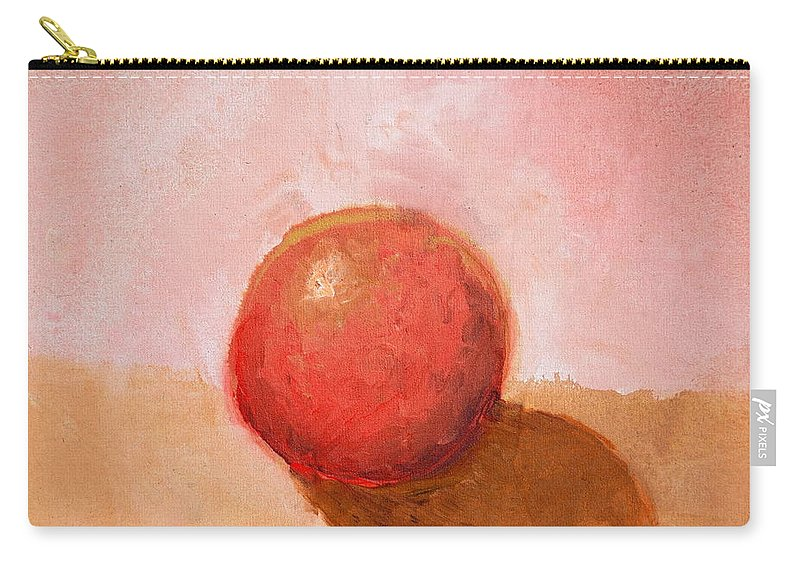 Spheres Carry-all Pouch featuring the painting Red Sphere Still Life by Michelle Calkins