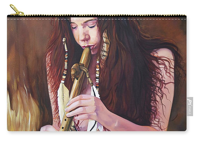 Southwest Art Carry-all Pouch featuring the painting Release by J W Baker