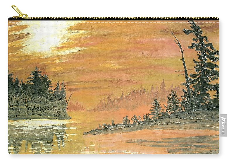 Northern Ontario Carry-all Pouch featuring the painting Remembering Ruth by Ian MacDonald
