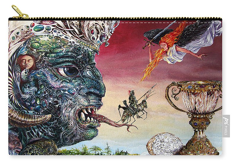 Surrealism Carry-all Pouch featuring the painting Revelation 20 by Otto Rapp