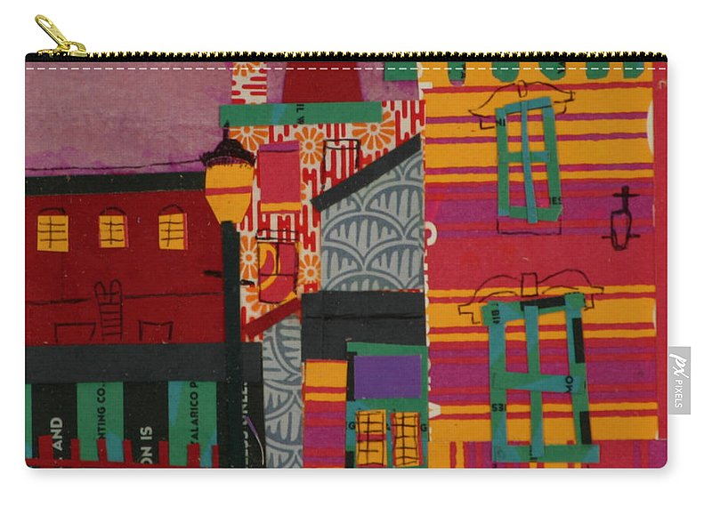 Lowell Carry-all Pouch featuring the mixed media Revolving Museum by Debra Bretton Robinson