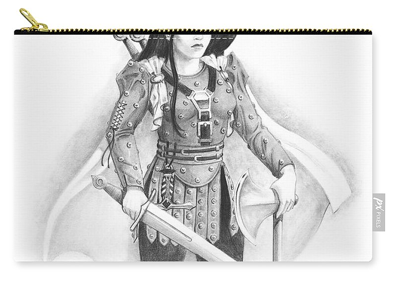 Rpg Carry-all Pouch featuring the drawing Rindy by Melissa A Benson