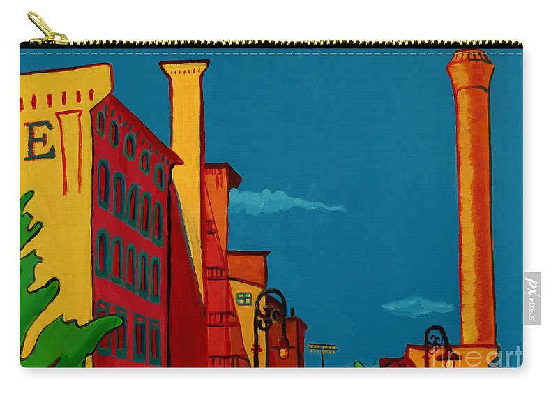 Landscape Carry-all Pouch featuring the painting Riverwalk by Debra Bretton Robinson