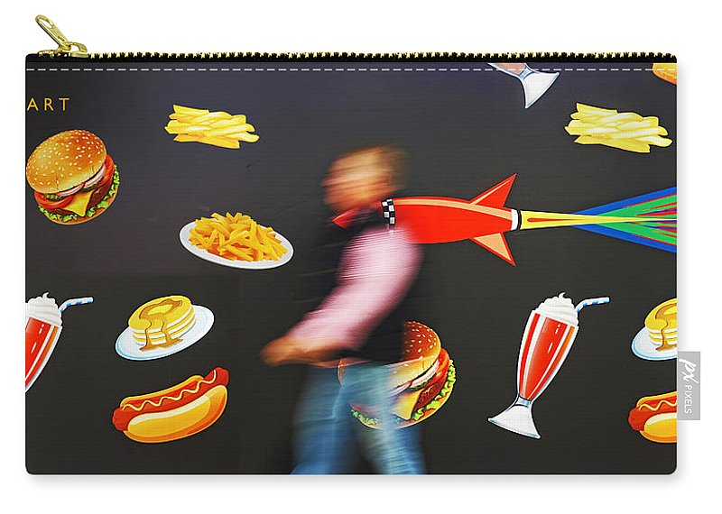 Rocket Carry-all Pouch featuring the painting Rocket Lunch by Charles Stuart