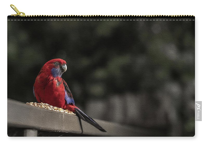 Rosella Carry-all Pouch featuring the photograph Rosella 1 by Leigh Henningham