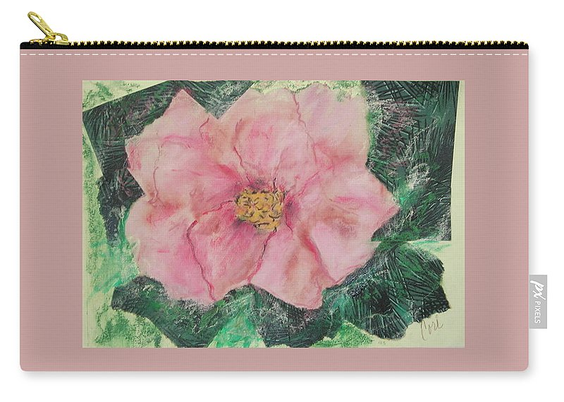Floral Carry-all Pouch featuring the mixed media Rosy Inspirations by Cori Solomon