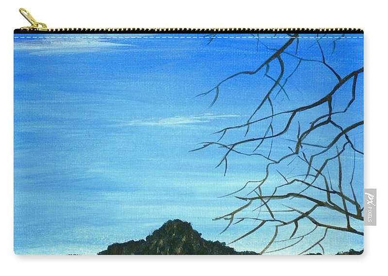 Malakhova Carry-all Pouch featuring the painting Round Valley Lake by Anastasiya Malakhova