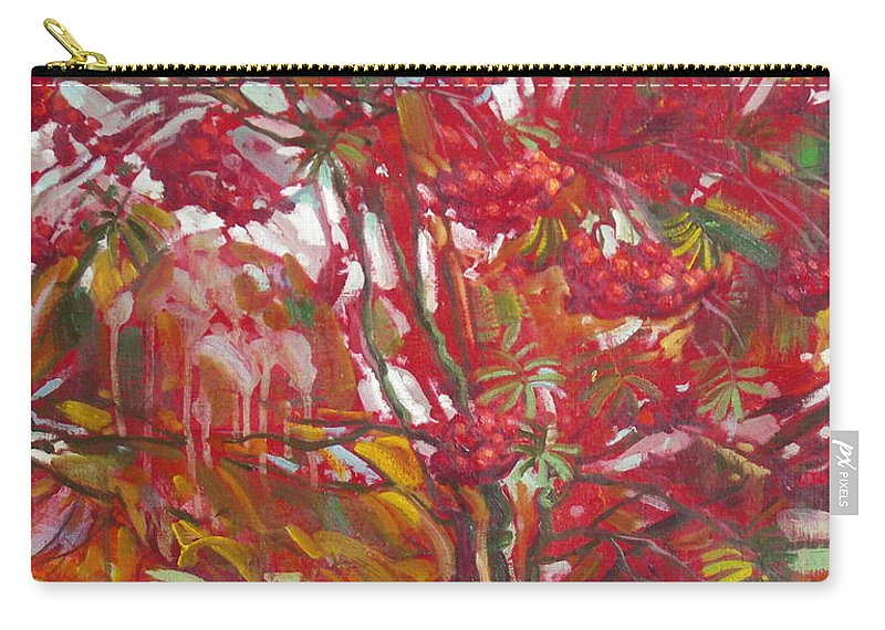 Oil Carry-all Pouch featuring the painting Rowan tree by Sergey Ignatenko