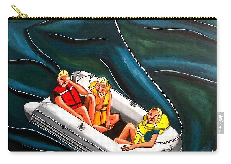 Carry-all Pouch featuring the painting Sailing by Sandra Marie Adams