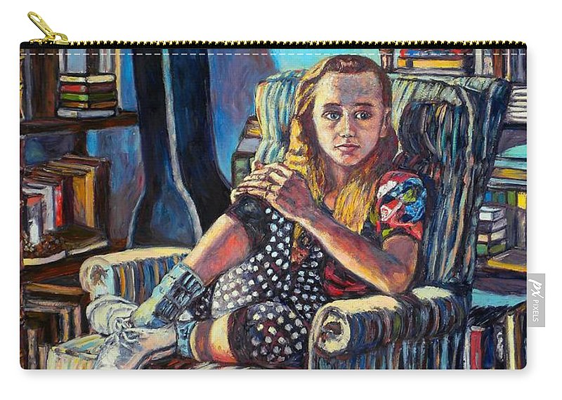 Figure Carry-all Pouch featuring the painting Samantha by Kendall Kessler