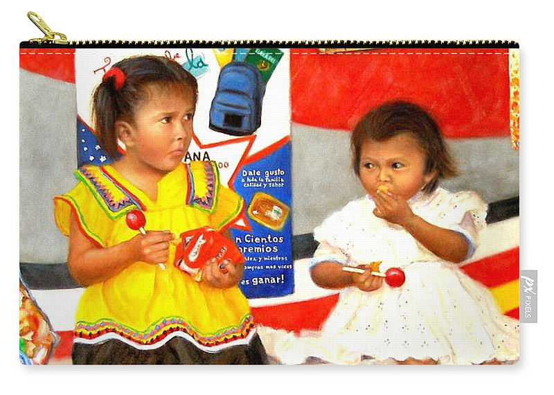 Realism Carry-all Pouch featuring the painting Same by Donelli DiMaria