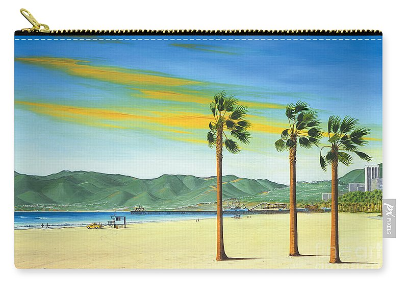 Santa Monica Carry-all Pouch featuring the painting Santa Monica by Jerome Stumphauzer