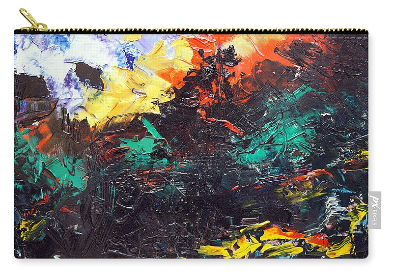 Vision Carry-all Pouch featuring the painting Schizophrenia by Sergey Bezhinets