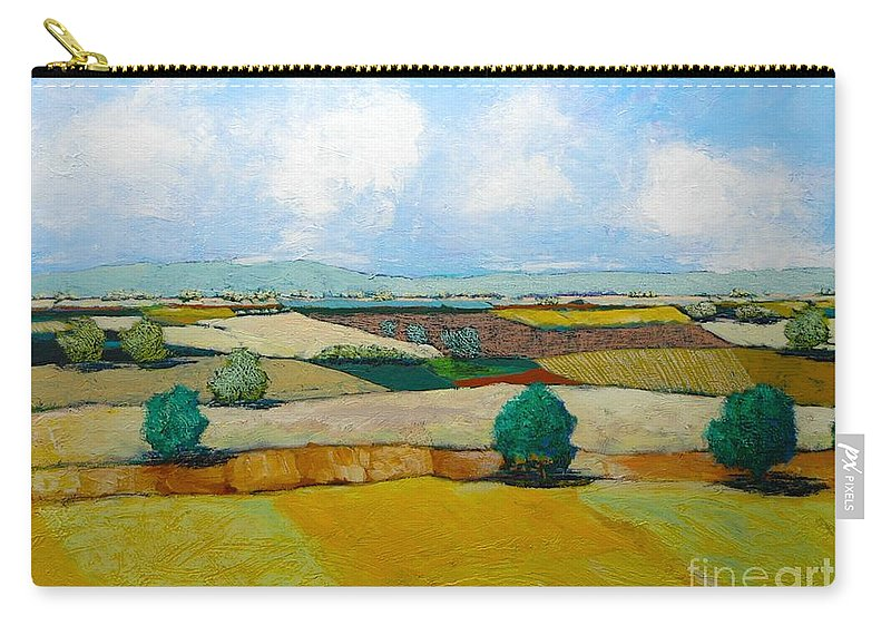 Landscape Carry-all Pouch featuring the painting Sears Point by Allan P Friedlander