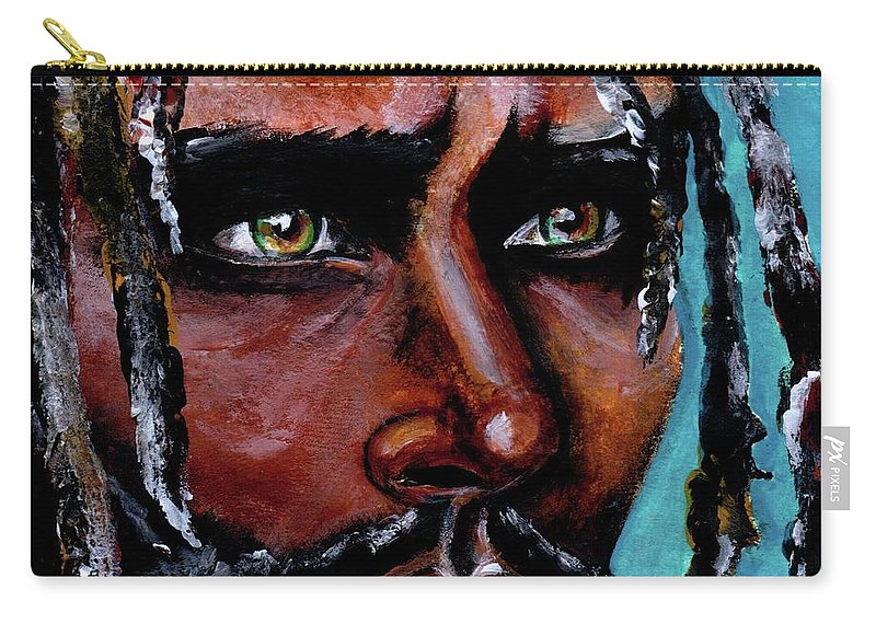 Eyes Carry-all Pouch featuring the painting Selfless Life by Artist RiA