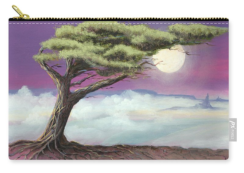 Landscape Carry-all Pouch featuring the painting Sentinel of the Canyon by Jerry McElroy