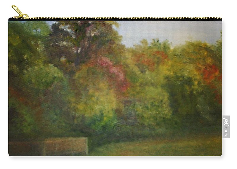 September Carry-all Pouch featuring the painting September in Smithville Park by Sheila Mashaw