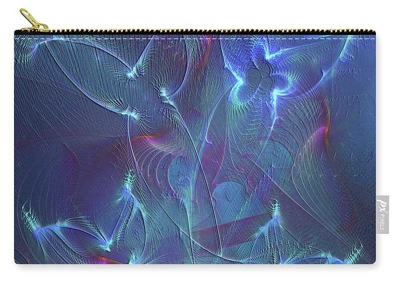 Affordable Art Carry-all Pouch featuring the digital art Seraphim Blue by John Robert Beck