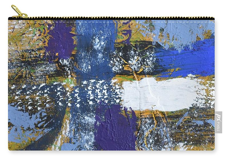 Blue Carry-all Pouch featuring the painting Series 1 Right Side by Pam Roth O'Mara
