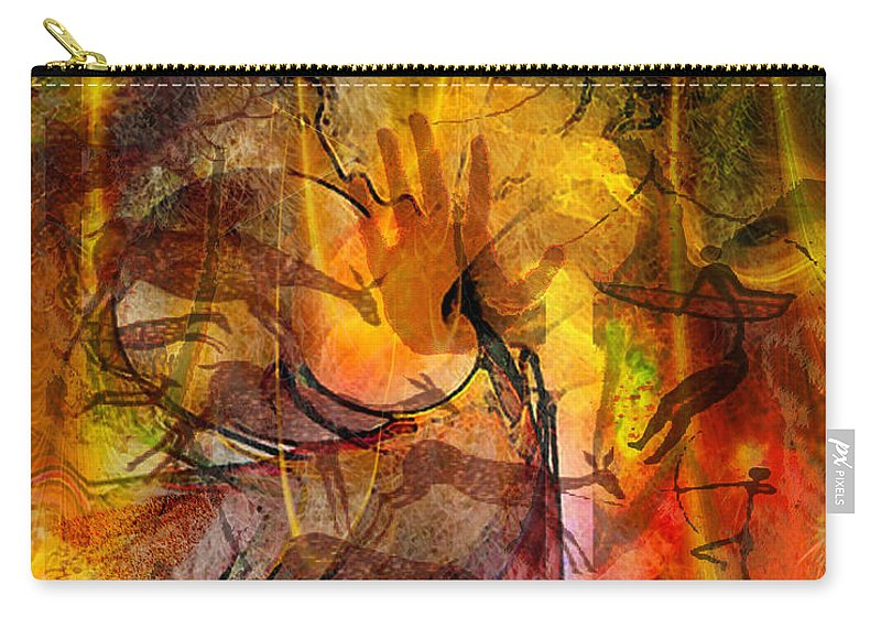 Shadow Hunters Carry-all Pouch featuring the digital art Shadow Hunters by John Robert Beck