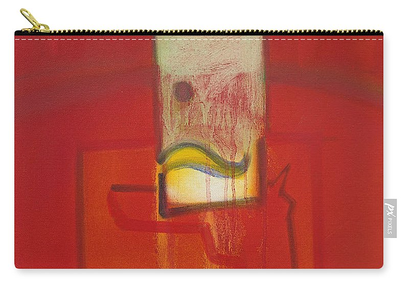Red Carry-all Pouch featuring the painting Shadow of a Gunman by Charles Stuart