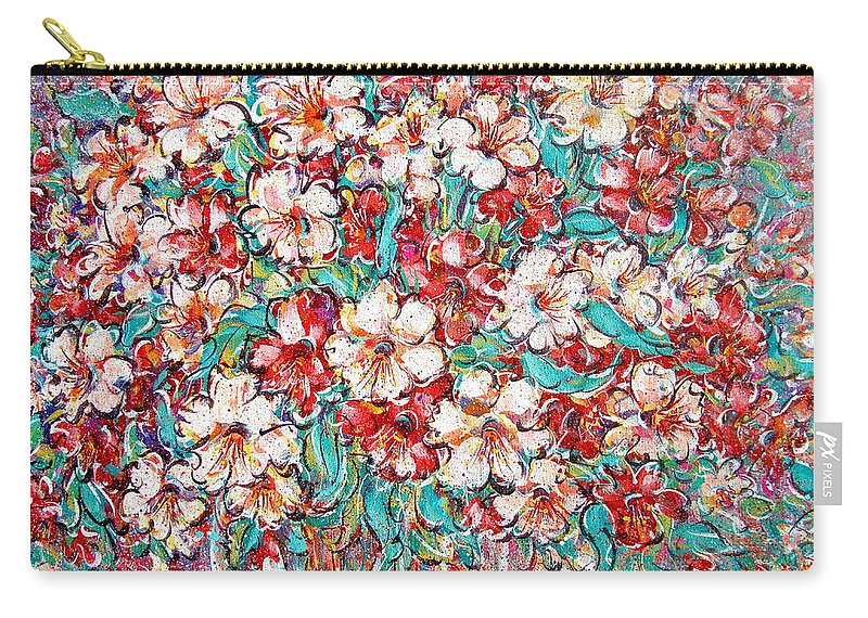 Flowers Carry-all Pouch featuring the painting Shakespeare Scents by Natalie Holland