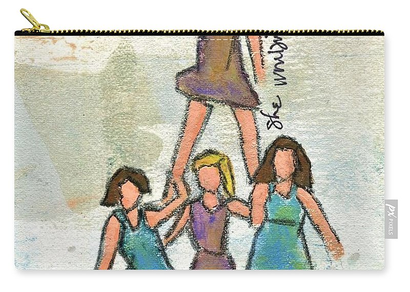 Beach Carry-all Pouch featuring the painting She Wouldn't Possibly Fall by Hew Wilson