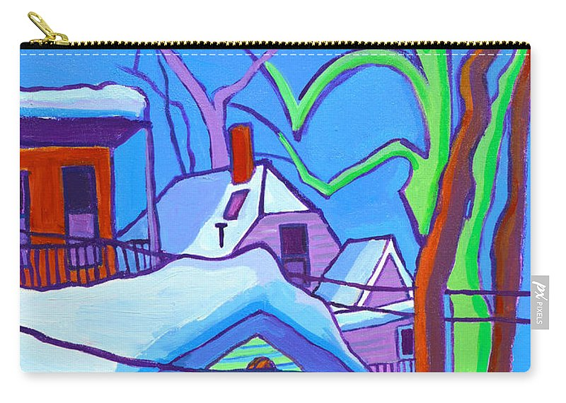 Buildings Carry-all Pouch featuring the painting Sheffield Winter by Debra Bretton Robinson