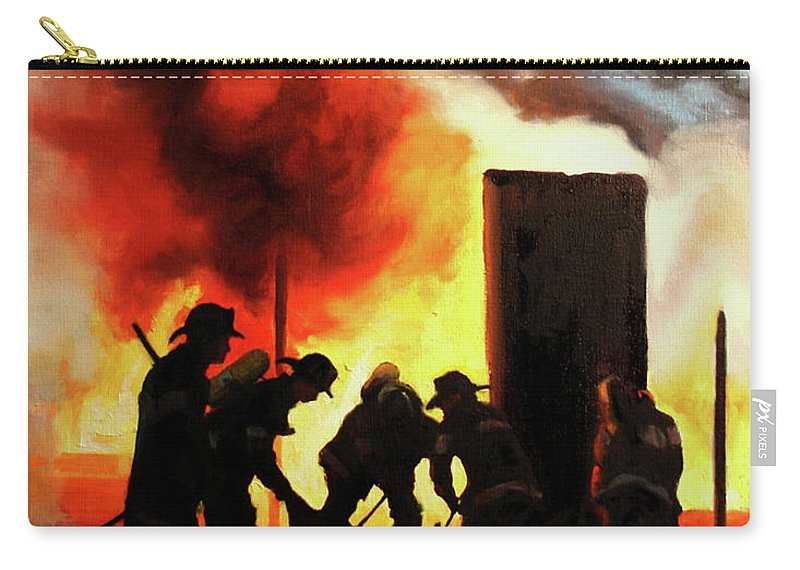 Fdny Carry-all Pouch featuring the painting Shadows From The Past by Paul Walsh