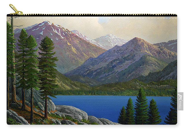 Landscape Carry-all Pouch featuring the painting Sierra Views by Frank Wilson