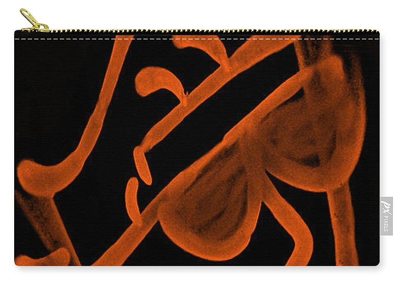 Nyc Carry-all Pouch featuring the photograph Slim Dapper Orange by Rob Hans