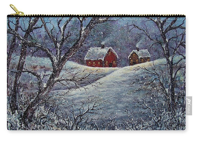 Landscape Carry-all Pouch featuring the painting Snowy Day by Natalie Holland