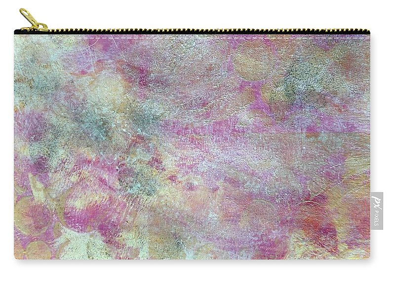 Abstract Carry-all Pouch featuring the painting Soft Sell by Carolyn Rhinebarger