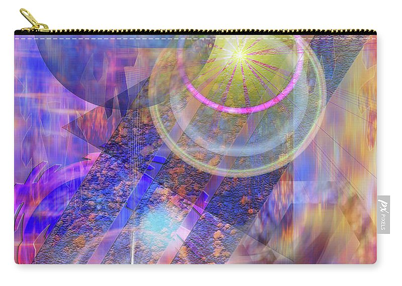 Solar Progression Carry-all Pouch featuring the digital art Solar Progression by John Robert Beck