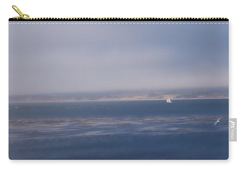 Sail Carry-all Pouch featuring the photograph Solo Sail in Monterey Bay by Pharris Art
