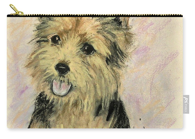 Dog Carry-all Pouch featuring the drawing Soulmate by Cori Solomon