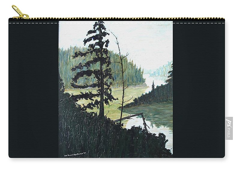 Sudbury Carry-all Pouch featuring the painting South of Sudbury by Ian MacDonald