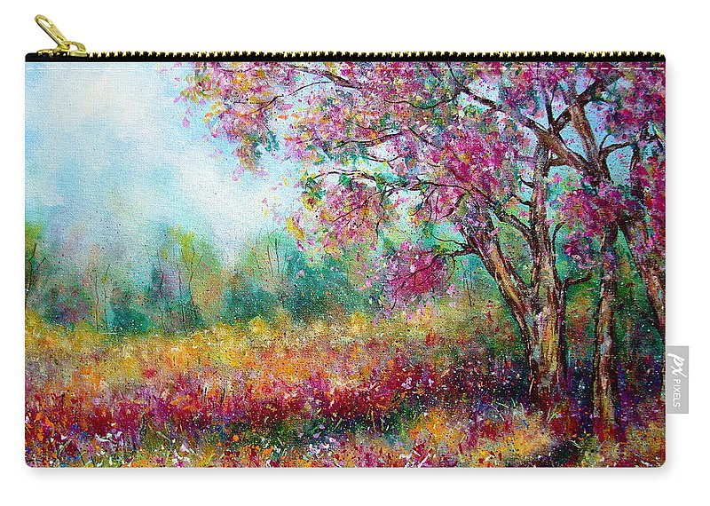 Landscape Carry-all Pouch featuring the painting Spring by Natalie Holland