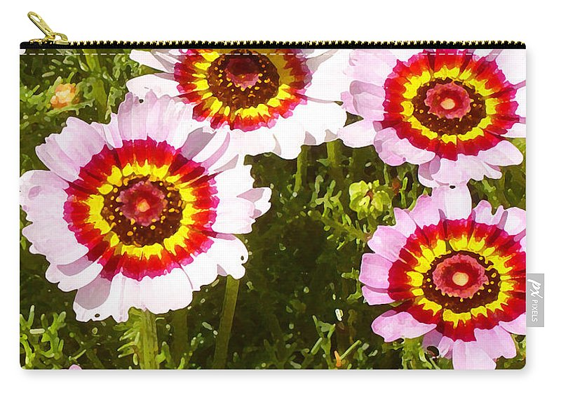 Wildflower Carry-all Pouch featuring the painting Spring Wildflowers by Amy Vangsgard