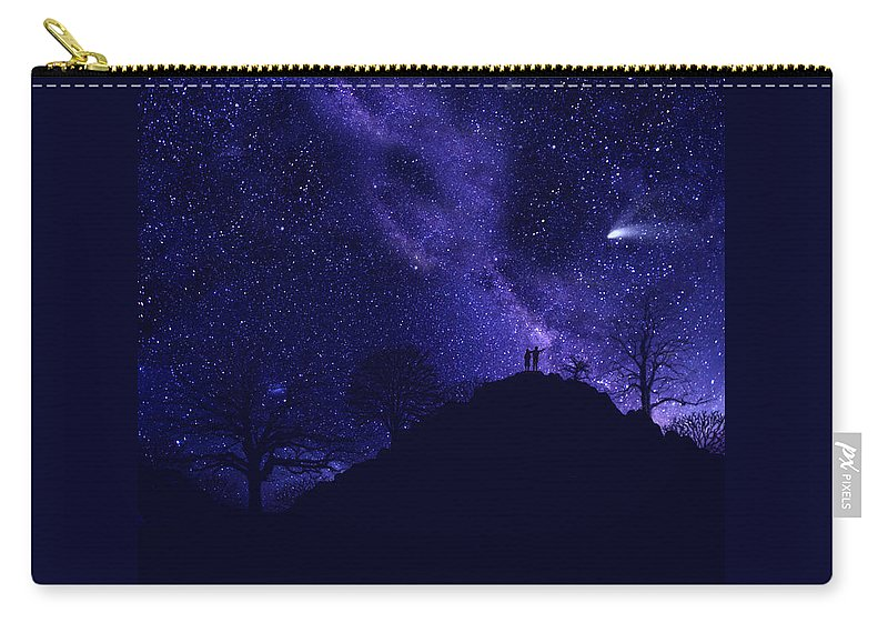 Starry Couple Carry-all Pouch featuring the painting Starry Couple Pointing Mural by Frank Wilson