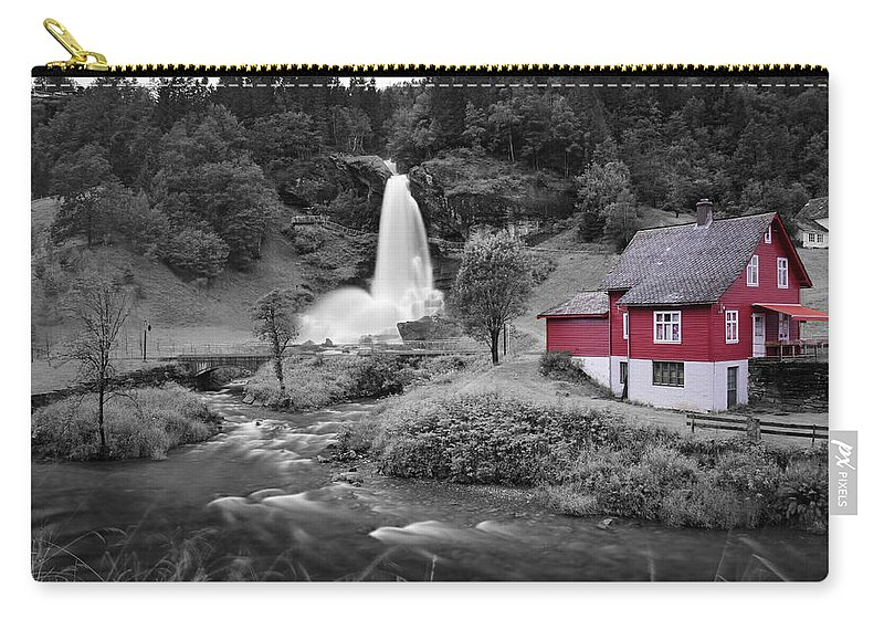 Carry-all Pouch featuring the photograph Steinsdalsfossen by Pop
